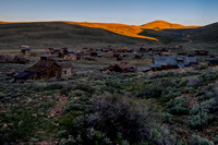 Sun Rises on Bodie, Bodie State Historic Park, Bodie, California