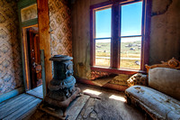 Blue Stove, Johl House, Bodie, California
