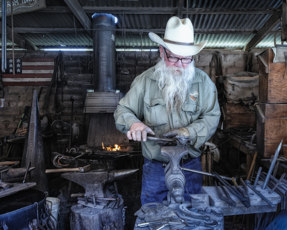 Blacksmith at OK Corral, Tombstone, Arizona