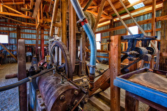 Old Mining Equipment, Laws Railroad Museum, Bishop, California