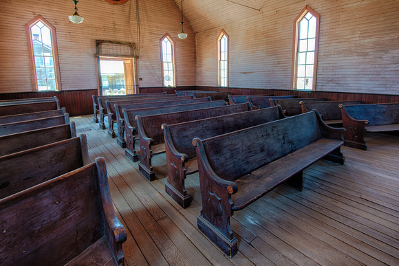 Empty Pews, Methodist Church, Bodie, California