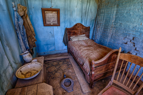 """Van Gogh"" Bedroom, Wheaton & Hollis Hotel, Bodie, California"